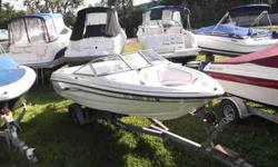$25,995, VOLVO PENTA I/O 200HP ENGINE W/33 HOURS OF FRESHWATER USE, 2009 FOUR WINNS SINGLE-AXLE PAINTED BUNK TRAILER W/BRAKES, BOW AND COCKPIT COVER, BIMINI TOP W/BOOT, NEVER BEACHED, DEALER MAINTAINED, eight PERSON CAPACITY, ANCHOR STORAGE UNDER BOW