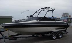 04 GLASTRON GX-235, TOWER, TOWER SPEAKERS, TOWER LIGHTS, WAKE BOARD RACK, SKI RACK, TOWER MIRROR, CD PLAYER, REMOTE, DEPTH FINDER, TABLE, BOLSTER SEATS, LADDER, DUAL BATTERIES, SNAP COVER, SPARE TIRE, VOLVO PENTA 5.0 GXI EFI 260HP ENGINE, 200 HOURS,