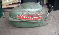 Firestone top half of Motor no lower unit not sure what year or horse power looks like 3.5 or 5.5 horse has good compression 25.00 O.B.O.If Interested Call John at 651-808-3593 Phone Calls Only No Texting I Don't have Texting on my Phone No Trading No