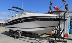 Visit www.BallastPointYachts.com for full specs and more photos. 2006 Four Winns 258 Vista located in San Diego. Powered by Volvo Penta 5.7Gi fuel injected engine with Volvo Penta DuoProp outdrive. Loaded with features including Anchor Windlass, Raymarine