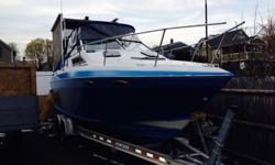 25' 1989 Four wins, this boat had its engine replaced last year, brand new (not Remanufactured) 357 Mercury cruiser still under 3 year factory warrantee, brand new bravo 1 Drive also replaced last year, both with less than 150 Hours on it ! This is the
