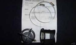 """NEW. Mercruiser 860222A1 Exhaust Resonator Kit, Kit has 2-resonator's and 2-hose clamps for installation. This kit helps stop water reversion problems and is """"STRONGLY recommended by MerCruiser"""" for ALL 454, 496 and 502 engines, it will also work with"""