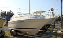 5.7 Mercruiser with Bravo II Drive, new heads, Manifolds, Risers, Anchor windlass, Very low hour boat and engine, GPS map-garmin, exceptionally clean inside and out. upholstery is excellent, Bravo II drive just had gimble bearing and bellows installed.