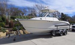 Original owner 2006 Trophy Pro 2502 WA for sale in San Diego. View More Details and Photos at: www.BallastPointYachts.comLightly used with only 207 hours on the Mercury Verado 250hp 4stroke outboard. Electronics are Raymarine C80 classic display with