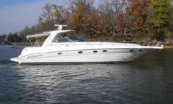 2004 Sea Ray 46 SUNDANCER The 460 Sundancer is a polished sportcruiser with an impressive blend of leading edge styling, tasteful accommodations & quality Sea Ray construction. Expansive interior matches the finest European imports in comfort and