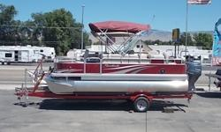 """New 2086 FC 90 Yamaha 4 StrokeMSRP 30,243 Includes Boat Motor Trailer Shipping and put togetherBuilding Pontoon Boats over 50 years--Factory Options-- Upgraded from Standard FeaturesTubes; 25"""" upgrade Approx 23-25 MPHStereo; i-Pod adapter and holderSony"""