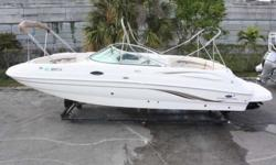 2006 Chaparral Sunesta 2006 Sunesta 274 bow rider deck boat with single Mercruiser 350 Mag MPI 300hp engine (110hrs) coupled with a bravo three dual prop outdrive. This boat has been lift kept since new with no bottom paint. This boat is nicely suited to