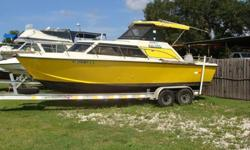 Pleasure Craft, FWC 5.7 Ibboard Cruiser --engine new 2006, 2011 Allstar Aluminum Trailer. Boat has hardtop, nice cabin with head, dinette, large livewell, freshwater flush, Garmin GPS Map, VHF, Lenco Tabs, New epurb, windlass with anchor. Price just