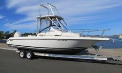26' Century 2600 Walkaround 1997 For Sale in San Diego, CA.Powered by a 2006 Evinrude 200 H.O. E-TEC outboard with low hours. Highlights include Lewmar Anchor Windlass, Hardtop w/spotting tower, Bluewater 45 gallon bait tank, and many more. A tandem axle