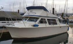 One of the cleanest Tollycrafts around. 454 V8, fuel injected with 100 hours since rebuild, with V-drive transmission, new in 97. Toilet with holding tank, macerator pump, electric and engine heat. Updated galley surfaces w/stainless steel sink and new
