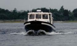 Designed by Lynn Senour, the originator of the Nordic Tug design, the 37 shares many of the features found in her larger and smaller siblings such as a hand-laid fiberglass hull with hard chine and full keel as well as the same attributes of speed and
