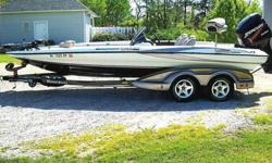 2005 Triton TR-21X Limited Edition Bass Masters $27,000 2005 trition tr-21x bass masters limited edition 225 Mercury Optomax 24V motorguide trolling motor trantam axcel tralior with serge brakes less than 200 hours on motor dual console. Contact