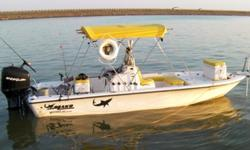 Ready to fish just add bait! See at www.sunset charters.co.GARMIN GPS and fishfinder w/extra map software.MIN-KOTA fwd trolling motor w/ I-PILOTand spare CO-PILOT. MINN-KOTA motor mount trolling motor w/remote.LENCO trim tabs. Hydrolic motor jack plate,2