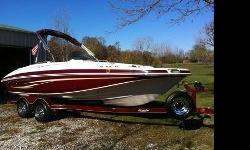 This one owner boat has been well maintained and is ready for the water. Lots of extras included like skis, tube, wakeboard, knee board, tow ropes, life jackets...the works. Thi sboat looks brand new and has less than 75 hours on it. A must see and a must