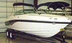 2003 CHAPARRAL 230 SSI WITH A 5.7 MAG ( 300 HP) BRAVO 3, T/A TRAILER WITH BRAKES,COCKPIT AND BOW COVERS,DUAL BATTERIES,PULL UP CLEATS,BIMINI TOP,EXTENDED SWIM PLATFORM , PRESSURE WATER SINK AND SO MUCH MORE ! 1 OWNER WITH 280 HRS