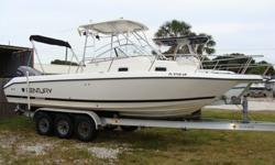 2006 Yamaha 4-stroke with 400 hours, Aluminum Triple axle trailer, hard top with aft bimini, Marine head with macerator, vhf radio, All upholstry in good condition-not kept in boat. 813-831-5694