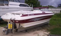 Used 2007 Larson 248 LXI with a Volvo Penta 300hp I/O and a EZ Loader trailer.