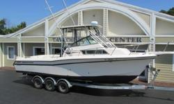 A Diesel Grady !!!!!! This is the best possible fishing boat for the Pacific NW and Alaska fishing. Along with the quality of a Grady White, it has the dependability of a Volvo Diesel engine with only 764 hours on it and the dual prop Volvo outdrive. Also