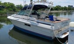 This 27? Sea Ray Amberjack 1987 is located in Norwalk, CT. Get into boating or your next boat with this ?Tons of Value? express cruiser. Priced to sell, she represents exceptional brand quality that continues to last and last. Enjoy spacious on deck