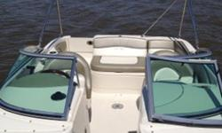 Excellent condition 2nd owner 10 seater Sea Ray Sundeck 220 with only 150 Hrs of use. 5.0 MPI MerCruiser with Bravo III out drive with dual props. Amenities included
