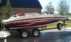 2010 Tahoe 195 I/O Black Cherry Fish and Ski with Low Hours (Under 20) Comes with matching tandem tailer with braking system, spare tire and lights. Looks and run beautifully. Features include