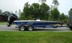 """2009 Blazer 202 pro v 2009 Mercury Pro XS 250 27 tempest prop 36v 101# minnkota 3 batteries plus a 4th just for cranking w/ a 3 bank charger approx. 135 hrs warranty until march 2015 15"""" rapid jack - jackplate hotfoot garage kept blinker style trim"""