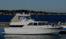 Nicely maintained Bertram cruising yacht. 1968 with thick fiberglass hull. A wonderful liveaboard.37' LWL, 38'LOA, 3.5' draft, 12.5' beam, 22,000 lb net, cruise at 8kn, max 12knSleeps 5 comfortably.Aft cabin
