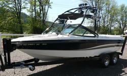 Brace yourselves, Summer is coming! Time to get on the water with this awesome fully loaded low hour MB. Only 191 fresh water hours on the PCM Excalibur 330 HP V8. Loaded with all the options you need for a fun day on the water. Perfect Pass cruise