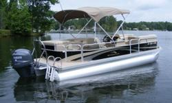 A Pre-Owned BENNINGTON TRIPLE TUBE 24 SLi with a YAMAHA 150hp 4 Stroke EFI in very clean condition is now for sale at Captain's Choice Marine, Leesville, SC. Serving the Columbia Lexington Midland's boating community for 30 + years, Captain's Choice