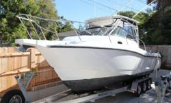 28' BOSTON WHALER 285 CONQUEST 2006ONLY 475 HOURS ON ORIGINAL ENGINES!Contact Andrew Shoemaker / Ballast Point Yachts, Inc.for more information and to schedule a viewingTel (619) 222-XXXX x 1 or Cell (619) 977-XXXXLocated on the West Coast and in Pristine