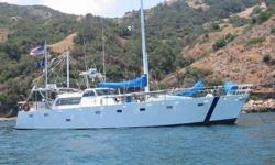 A proven commercial-grade heavy-steel deep-draft offshore sailboat explorer. Designed for long-range, long-term offshore use. Suitable for 10 persons in 4-cabins. Ready to leave for any port (or island) in the world. This vessel was built to withstand the