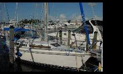 I bought it from the original owner 3 yrs ago. The boat was in good condition. I have upgraded electronics equipment, added a new headsail, davitts, etc... I am selling the boat because we are moving to Chicago, and we just had twins. Hence, we will need