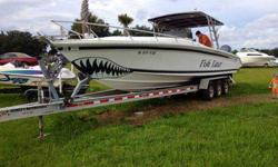 35 Foot Marlin Sport Fish Center Console with twin 300 HP Yamaha engines 2004 models, low miles, 2006 tri-Axle trailer, boat has no problems, we have had it over 35 miles out in the gulf this year, great deep sea fishing boat and it's priced thousands