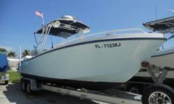 1996 Mako 282 This is a classic Miami built mako. Not like the ones that Tracker builds now. This boat revolutionized the offshore arena with the ability to make long distance runs. This boat holds 240 gallons of fuel for those extended bahamas runs. Boat