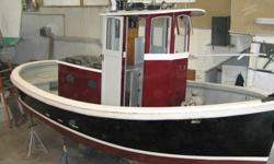 22 foot Harbor Tug built in 1996 powered by a Ford Lehmen 135 H.P. diesel engine with Hurth reduction gear and turns a 3 bladed prop. EL TORO is the ideal workhorse for a marina, yacht yard or yacht club. She is highly manueverable and powerful. Whether