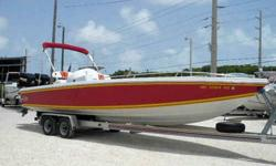 Rare! Original Built Sheet Available This very rare Magnum Marine Oris Center Console recently arrived in the Keys from Michigan's freshwater. Always kept in freshwater under a full cover. This vessel was repowered in 2003 with new twin 2002 250HP EFI