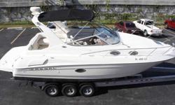 2002 Regal 3060 This beautiful Regal 3060 Commodore is a quality stern drive cruiser with an innovative design, solid construction that provides comfortable accommodations for six. Her spacious and luxurious full-beam interior includes double berths fore