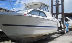 An American classic cruiser - an exclusive Bayliner design for serious cruising in a trailerable package. Options included. AC.ANCHOR WINDLASS. GPS COLOR 383C HUMINGBIRD. VHF RADIO 7100 NAVMAN WITH EXTERNAL SPEAKERS. STEREO AM/FM/CD.JBL. HARD TOP WITH