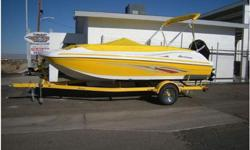 JUST ARRIVED SUNDECK SPORT 188 OB!! VERY NICE HURRICANE DECKBOAT. DONT LET THE SIZE FOOL YOU, IT'S GOT A LOT OF ROOM FOR A 19' DECKBOAT,115HP MERCURY FOURSTOKE OUTBOARD,FULL FIBERGLASS INNERLINER FLOOR W/SNAP IN CARPET,2 BUILT IN LADDERS & SWIMSTEPS,LIVE