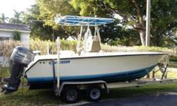 This clean 21' Contender has been trailer kept its entire life. Powered by a Yamaha 200hp HPDI with under 350 hours, this modern two stroke engine is super efficient to operate, and trouble free! Sale includes a clean dual axle aluminum trailer. Call Mike