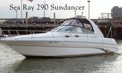 This 29? Sea Ray 290 Sundancer 1998 is located in New Haven, CT. A fabulous boat, in fabulous condition for fabulous fun! This EXCEPTIONAL SUNDANCER has been lovingly maintained by her owners in tip top condition and is sure to be one of the finest