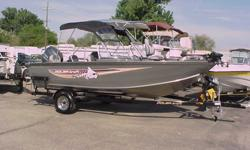 """2012 179 Frontier115 YamahaFull encloserCharging systemMinnkota 70 lbs2 Live wellsREAR BENCH seatCustom, all welded trailerMust See Super Wide 99""""Huge Storage ROD LOCKERcall me at 208-323-8737"""
