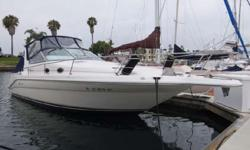 Nice Clean 1996 Sea Ray 290 Sundancer boat for sale in San Diego. Perfect boat for Cruising or also nice Condo on the Water. Powered by twin Mercury 4.3L engines. Motors & Outdrives were recently serviced May 2016. All pictures are of the Actual Boat