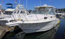 2001 Wellcraft 290 Coastal for sale in San Diego, CA. Powered by twin Evinrude Ficht 2stroke outboards with 600 original hours. Electronics include Raymarine C-80 classic display with GPS/Fishfinder/Radar, Standard Horizon VHF radio, and stereo. Great