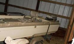 16' Stick Steer Bass Boat. No holes, Motor needs serviced. Evinrude Outboard and Evinrude Trolling engine. Livewelland Anchors front and back... Great Christmas project gift....Call Bill 219.863.9117Listing originally posted at http