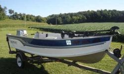 18 Hp Spirit motor, Minn Kota Trolling motor, super clean little boat. just traded in on a car. Contact Duane at 563-562-3237.