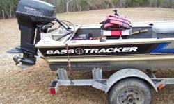92 Tracker Panfish special Stick Steering Stainless prop 40 horse Johnson CMC trim and tilt Galvanized trailer Trolling motor Anchor Boat has been sitting under a shed for a while. Just don't use it anymore. Over all fair shape. I haven't tried to start