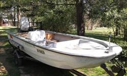 It runs good.I rebuilt it like a bass boat. With a large live well. Will accept partial trade but only guns! Original motor 1969...
