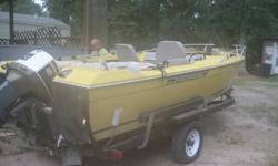Selling 1975 Bayliner boat with a 1975 115 Johnson outboard motor. Has new bimini top, Carb kits put in this year, new water P, and steering cable. Have receipts for all repairs to boat. Lower unit of motor has been coated to help protect from salt water.
