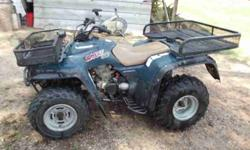 Kawasaki Bayou 300, 2 wheel drive. Runs Good Has a 2000lb wench on front. Want to trade for a good boat, $2,000.00 (click to respond) send picture # 706-340-8316 .See item listed at http